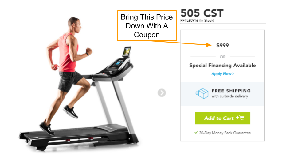 ProForm 505 CST Treadmill Coupon and Promo Code