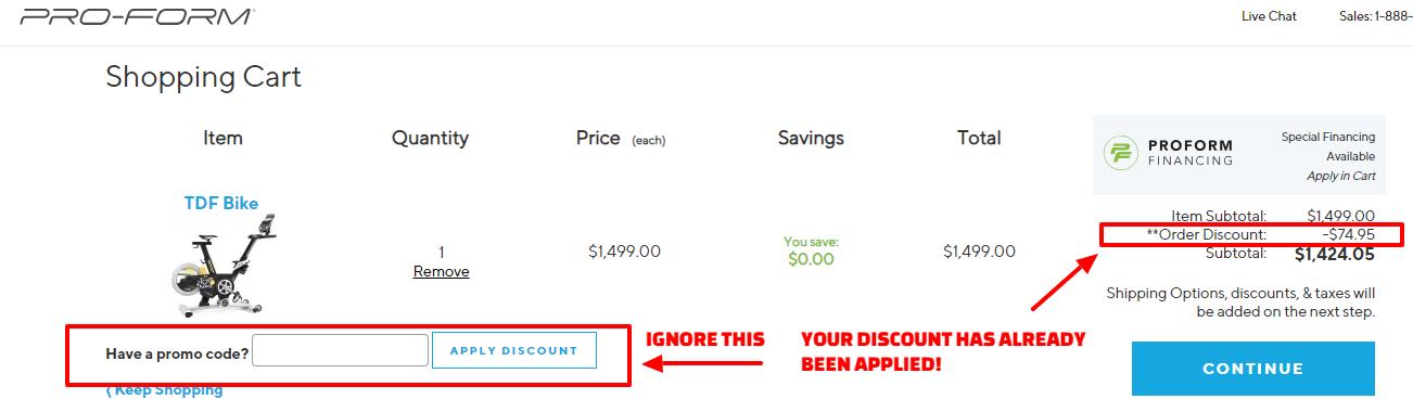 ProForm Promo Code discount