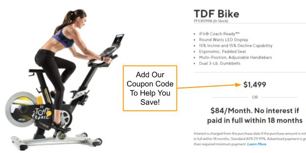 ProForm TDF Bike Promo Code