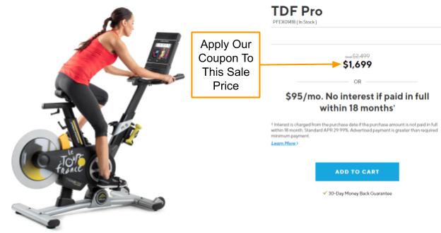 ProForm TDF Pro Bike Promo Code