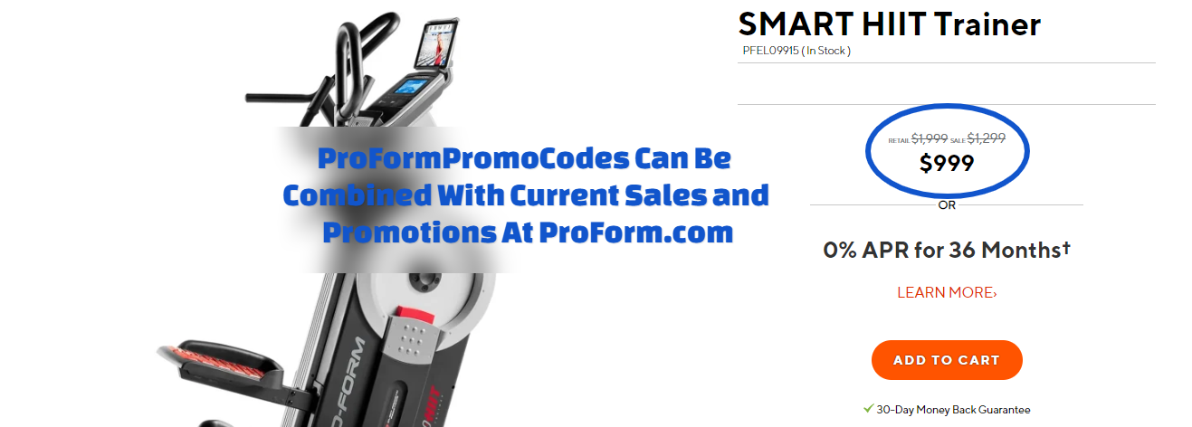 ProForm SMART HIIT Trainer Coupon