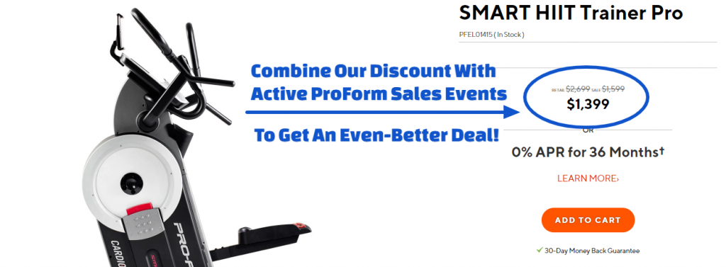 ProForm SMART HIIT Trainer Pro Coupon
