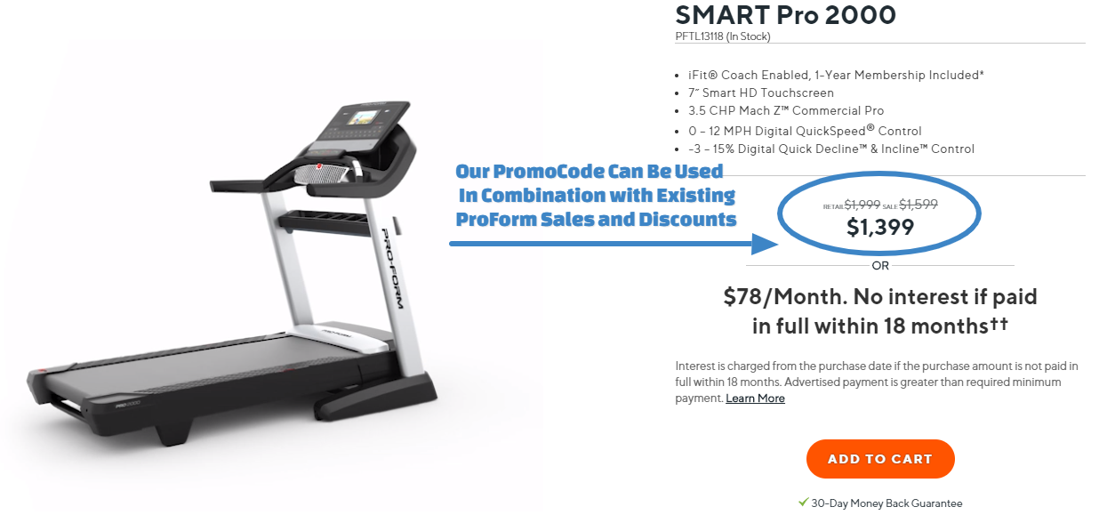 ProForm SMART Pro 2000 Treadmill Promo Code