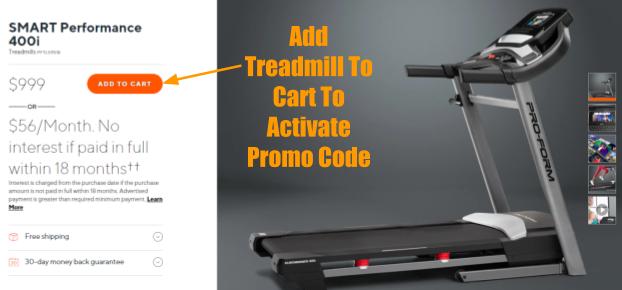 ProForm SMART Performance 400i Treadmill Coupon