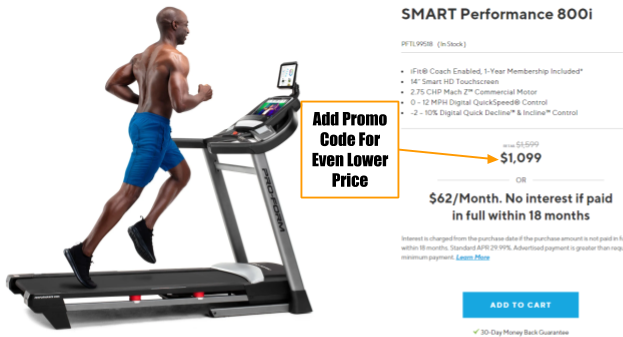 ProForm SMART Performance 800i Coupon and Promo Code