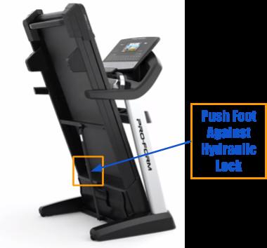 ProForm Treadmill - Push Foot Against Hydraulic Lock