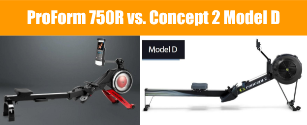 ProForm 750R Rower vs Concept2 Model D - Rower Comparison