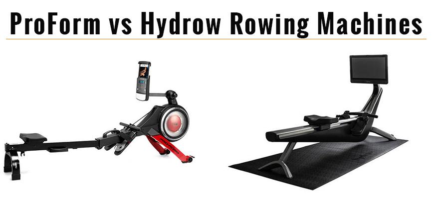 Proform Rowing Machine vs Hyrdrow - Rower Comparison
