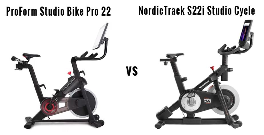 ProForm Studio Bike Pro 22 vs NordicTrack S22i